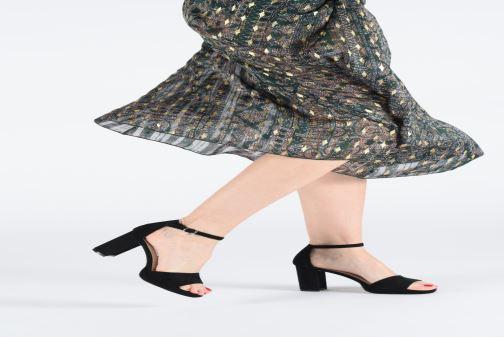 Sandalen Xti 35047 schwarz ansicht von unten / tasche getragen