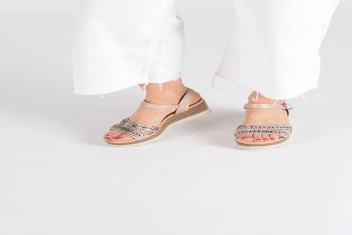 Sandales et nu-pieds Xti 48860 Beige vue bas / vue portée sac