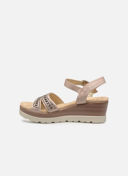 Sandals Xti 48860 Beige front view