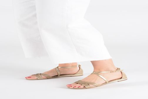 Sandals Xti 48986 Pink view from underneath / model view