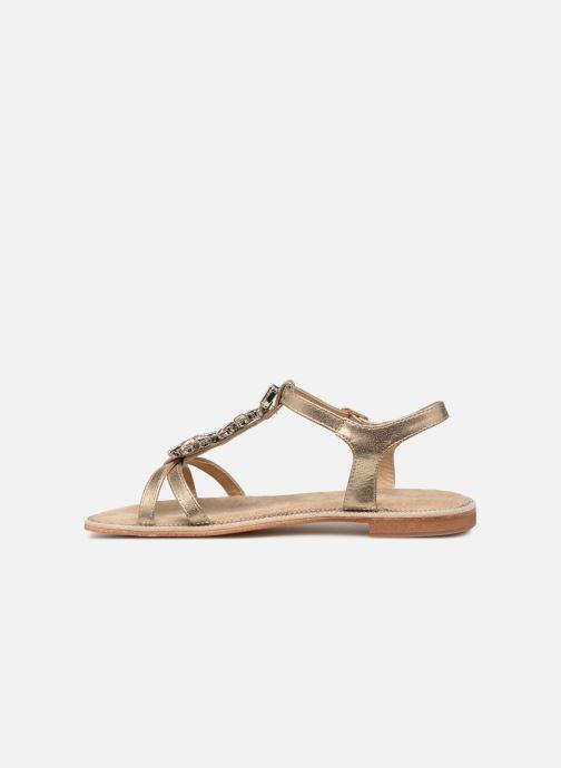 Sandales et nu-pieds Xti 48995 Or et bronze vue face