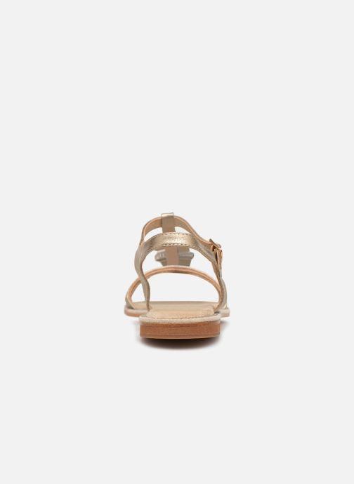 Sandales et nu-pieds Xti 48995 Or et bronze vue droite