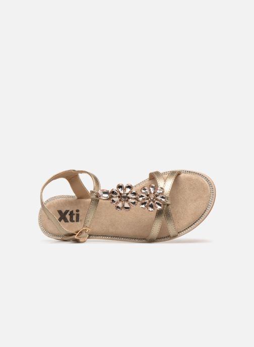 Sandales et nu-pieds Xti 48995 Or et bronze vue gauche