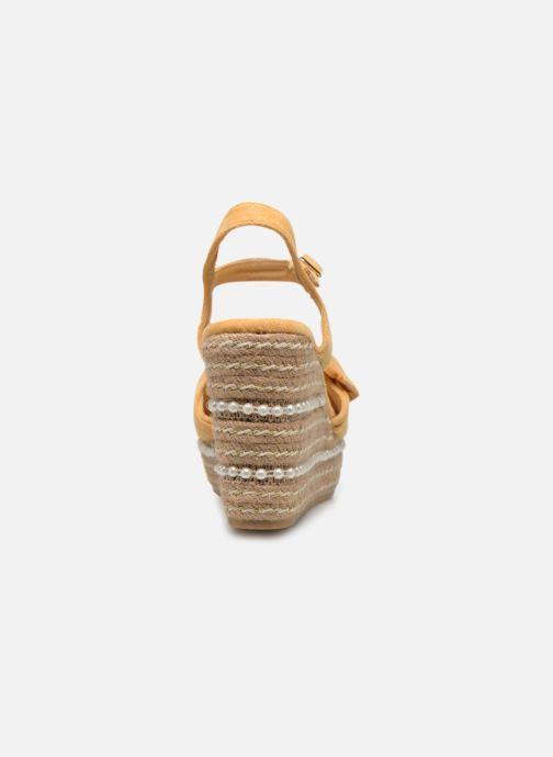Sandales et nu-pieds Xti 49073 Jaune vue droite