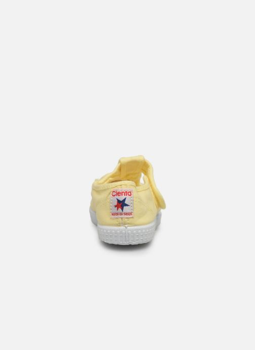 Trainers Cienta Pilou Yellow view from the right