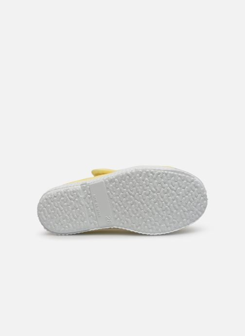 Trainers Cienta Pilou Yellow view from above