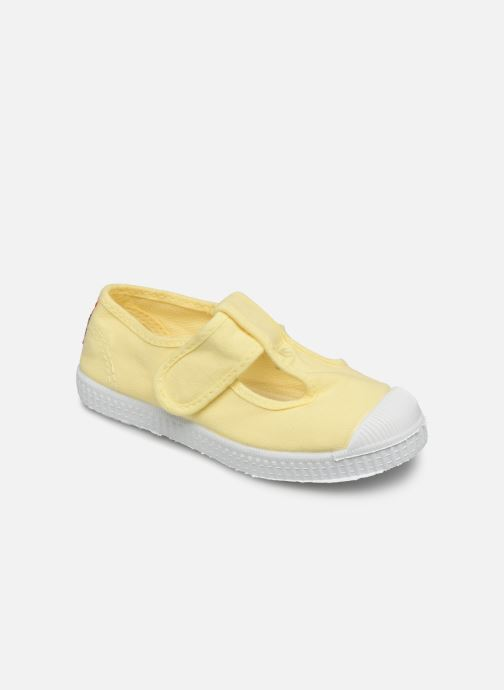 Trainers Cienta Pilou Yellow detailed view/ Pair view