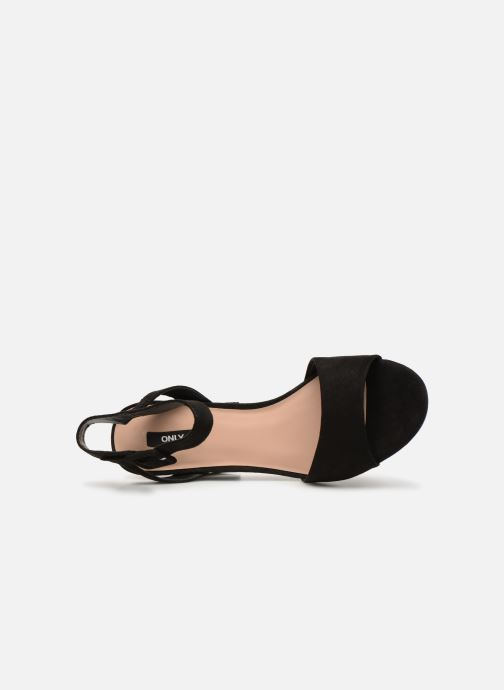Sandales et nu-pieds ONLY onlAMANDA HEELED SANDAL Noir vue gauche
