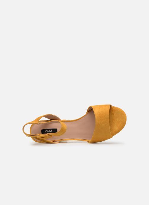 Sandales et nu-pieds ONLY onlAMANDA HEELED SANDAL Jaune vue gauche