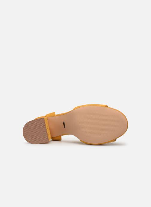 Sandales et nu-pieds ONLY onlAMANDA HEELED SANDAL Jaune vue haut