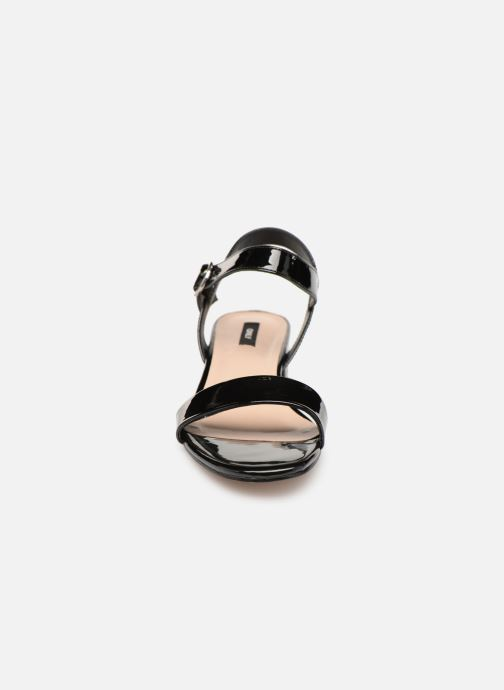 Sandalen ONLY onlAPPLE MIDI HEELED PATENT SANDAL Zwart model
