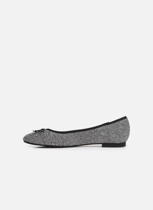 Ballet pumps ONLY onlBEE SHIMMER BALLERINA Silver front view