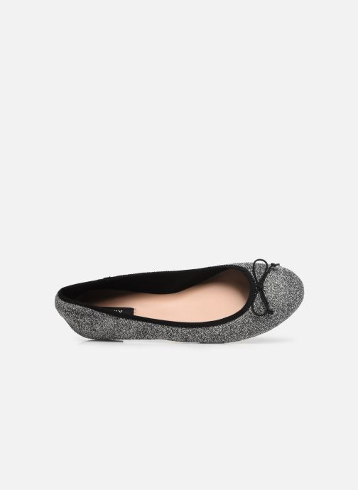 Ballet pumps ONLY onlBEE SHIMMER BALLERINA Silver view from the left