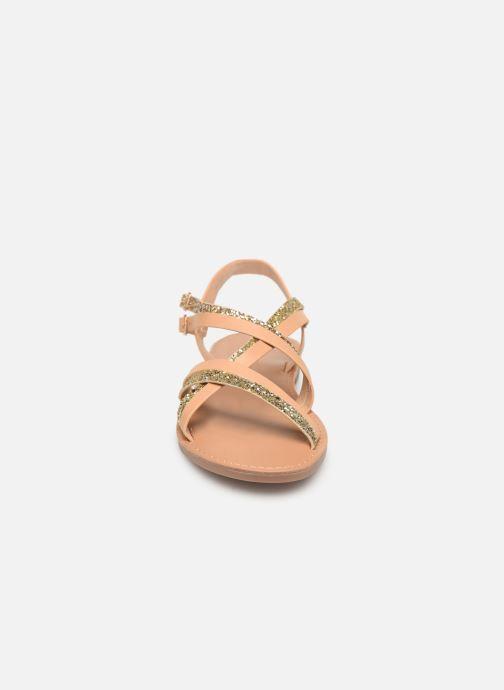 Sandales et nu-pieds ONLY onlMANDALA CROSSOVER SANDAL Beige vue portées chaussures