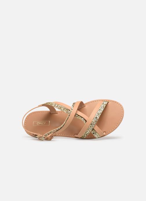 Sandaler ONLY onlMANDALA CROSSOVER SANDAL Beige se fra venstre