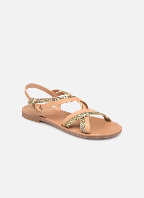 Sandaler ONLY onlMANDALA CROSSOVER SANDAL Beige detaljeret billede af skoene