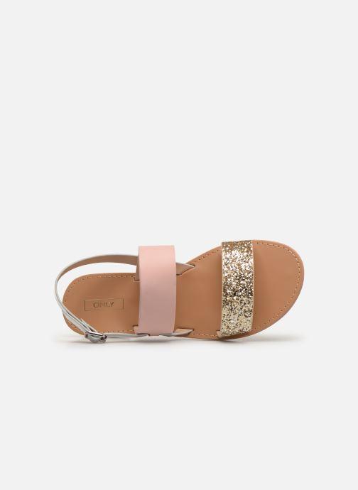 Sandales et nu-pieds ONLY onlMANDALA MIX SANDAL Or et bronze vue gauche