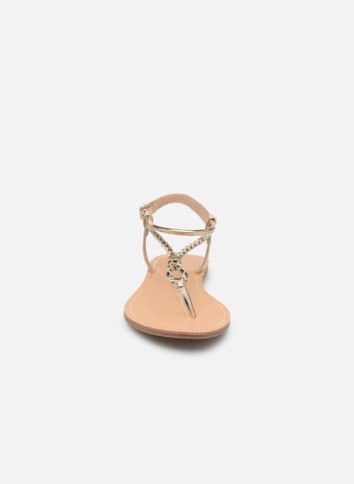 Sandales et nu-pieds ONLY onlMARGIT BRAIDED ANKEL SANDAL Or et bronze vue portées chaussures