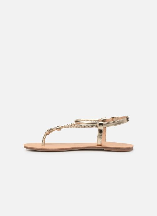 Sandales et nu-pieds ONLY onlMARGIT BRAIDED ANKEL SANDAL Or et bronze vue face