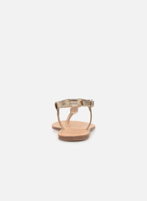 Sandales et nu-pieds ONLY onlMARGIT BRAIDED ANKEL SANDAL Or et bronze vue droite