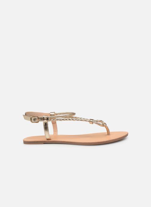 Sandales et nu-pieds ONLY onlMARGIT BRAIDED ANKEL SANDAL Or et bronze vue derrière