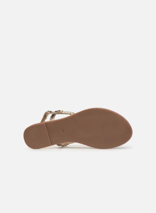 Sandales et nu-pieds ONLY onlMARGIT BRAIDED ANKEL SANDAL Or et bronze vue haut