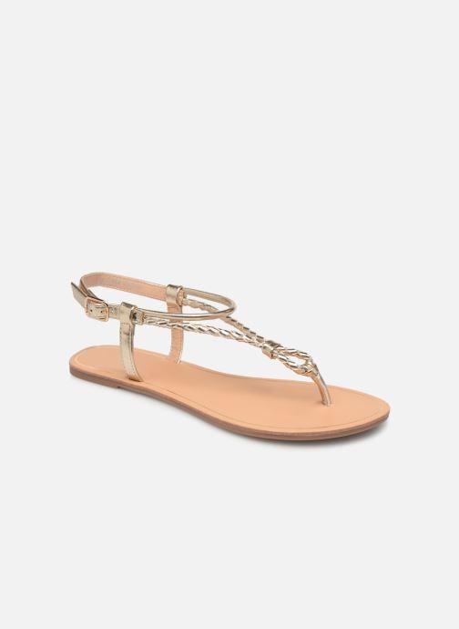 Sandales et nu-pieds ONLY onlMARGIT BRAIDED ANKEL SANDAL Or et bronze vue détail/paire