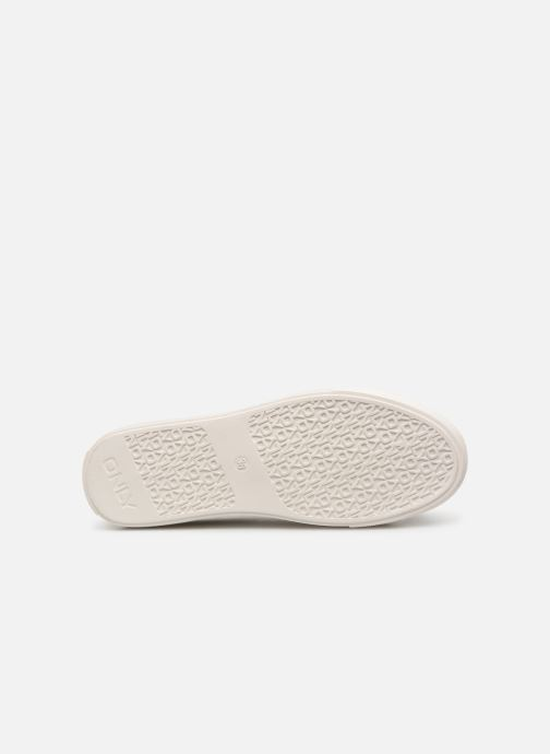 Baskets ONLY onlSAGE EMBROIDERY SNEAKER Blanc vue haut