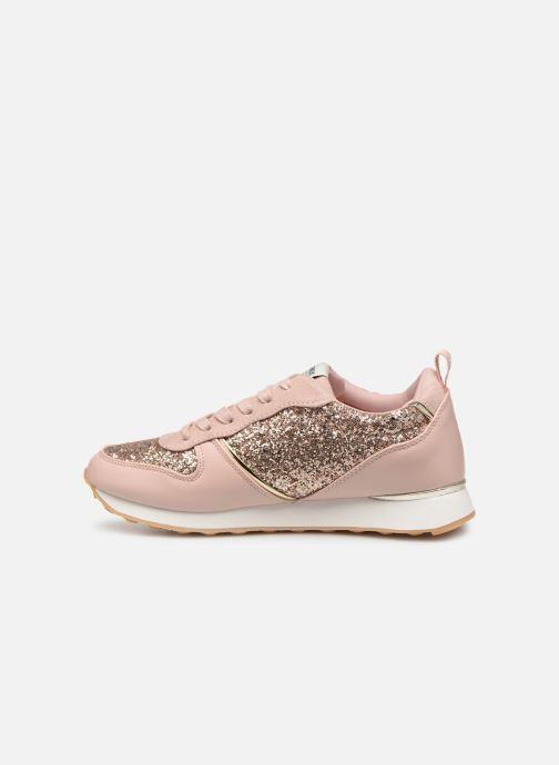 Sneakers ONLY onlSILLIE GLITTER SNEAKER Roze voorkant