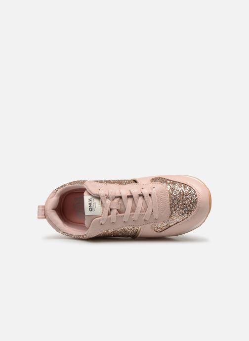 Sneakers ONLY onlSILLIE GLITTER SNEAKER Rosa bild från vänster sidan