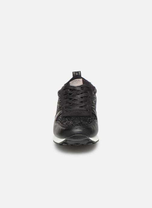 Baskets ONLY onlSILLIE GLITTER SNEAKER Noir vue portées chaussures
