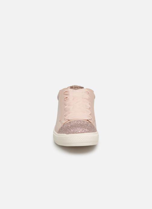 Baskets ONLY onlSKYE GLITTER TOE CAP SNEAKER Rose vue portées chaussures
