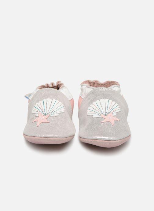 Chaussons Robeez Shell & Sand Argent vue portées chaussures