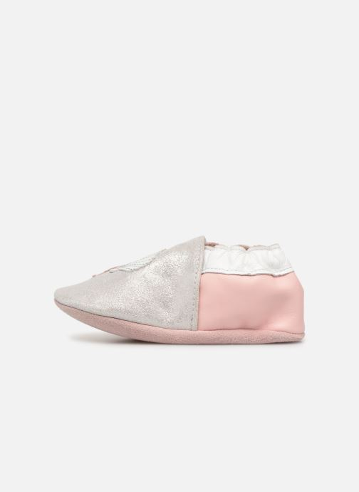 Slippers Robeez Shell & Sand Silver front view