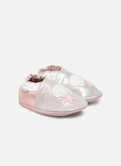 Slippers Robeez Shell & Sand Silver detailed view/ Pair view