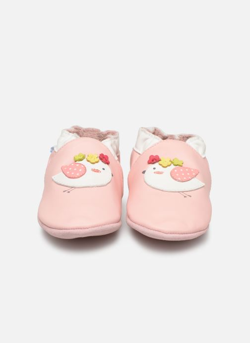 Chaussons Robeez Cutie Bird Rose vue portées chaussures