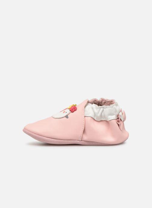 Slippers Robeez Cutie Bird Pink front view