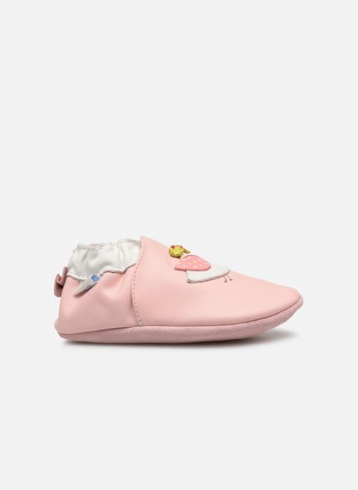 Pantuflas Robeez Cutie Bird Rosa vistra trasera