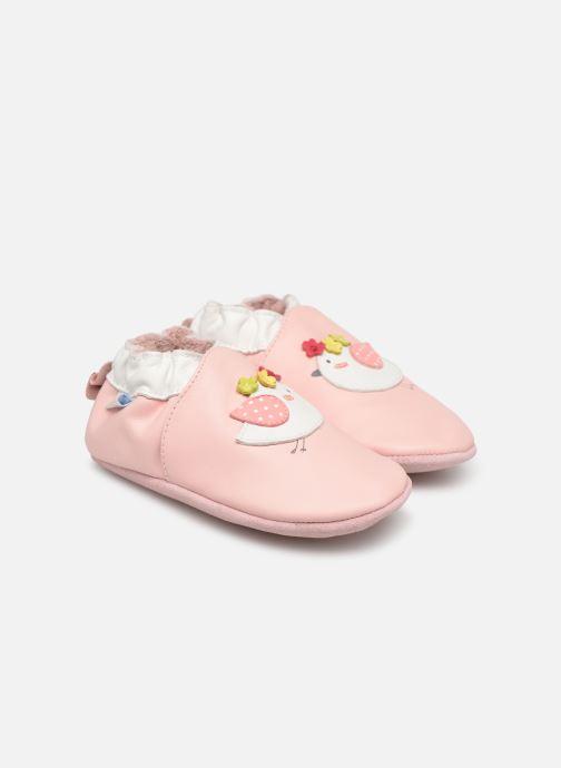 Slippers Robeez Cutie Bird Pink detailed view/ Pair view