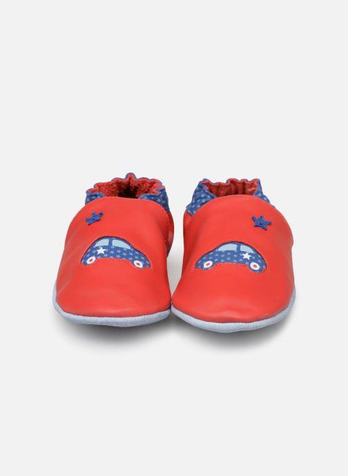 Chaussons Robeez Auto Rouge vue portées chaussures