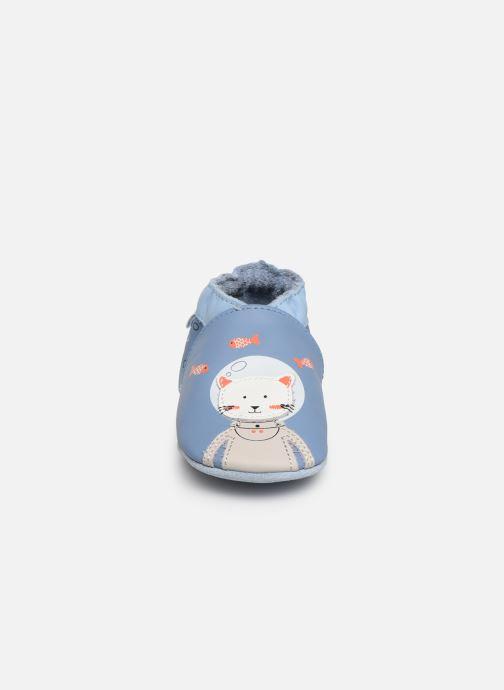 Chaussons Robeez Sea Cat Bleu vue portées chaussures
