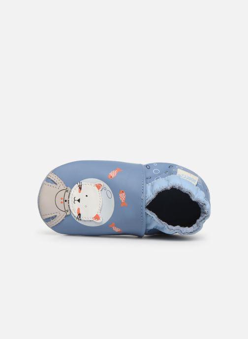 Pantoffels Robeez Sea Cat Blauw links