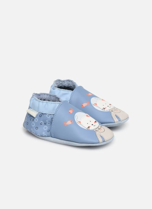 Slippers Robeez Sea Cat Blue detailed view/ Pair view