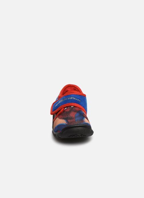 Chaussons Spiderman Sabre Bleu vue portées chaussures