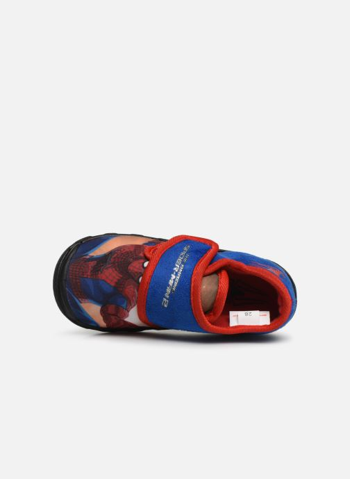 Slippers Spiderman Sabre Blue view from the left