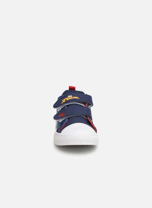 Baskets Spiderman Nebraska Bleu vue portées chaussures