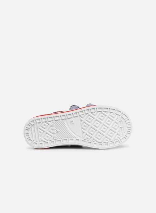 Baskets Spiderman Nebraska Bleu vue haut