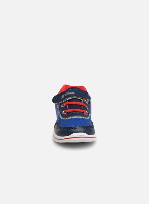 Baskets Spiderman Nombre Bleu vue portées chaussures