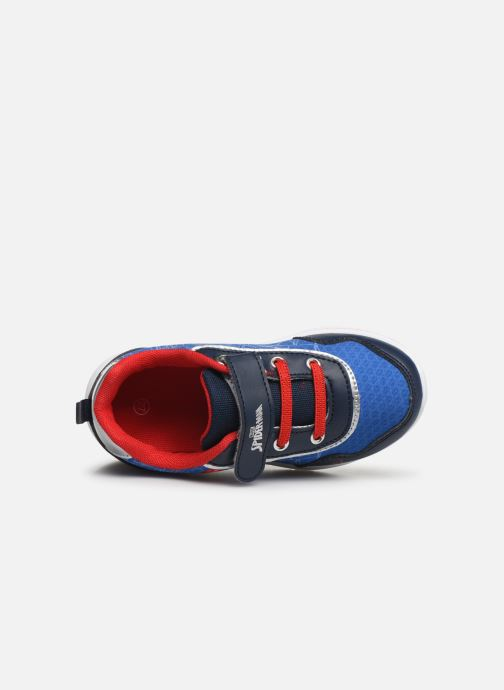 Baskets Spiderman Nombre Bleu vue gauche