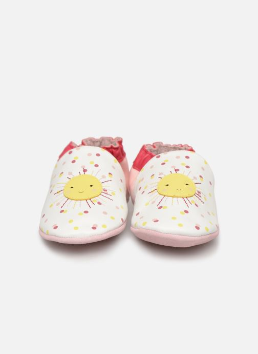 Chaussons Robeez Sun Shinning Blanc vue portées chaussures